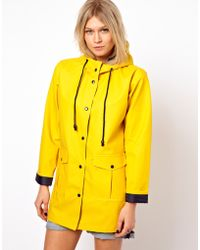 ASOS Collection | Asos Rain Mac with Contrast Lining | Lyst