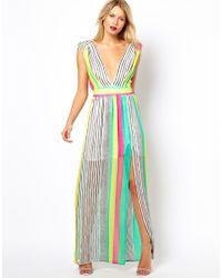 Love Maxi Dress in Stripe - Multicolour
