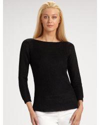 Ralph Lauren Black Label Metallic Boatneck Sweater - Lyst