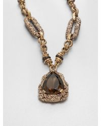 Stephen Dweck Smoky Quartz Pendant Necklace - Metallic