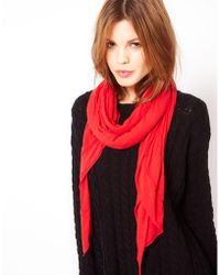 American Vintage Soft Jersey Scarf - Red