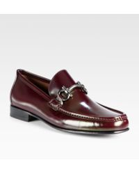 Ferragamo Leather Loafers - Lyst