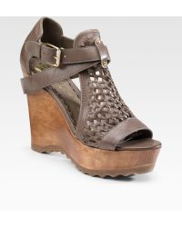 Juicy Couture - Bundy Wovenleather Wedge Sandals - Lyst