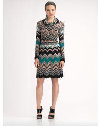 M Missoni Cowlneck Dress - Lyst