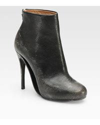 Maison Margiela Vintageinspired Leather Ankle Boots - Lyst