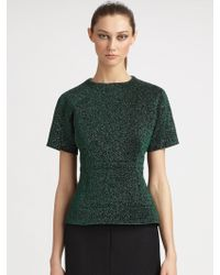Marc Jacobs Metallic Peplum Sweater - Lyst