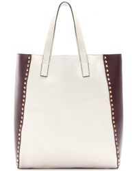 Marni Twotone Leather Bolted Tote - Lyst