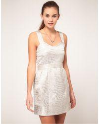 Max C Jacquard Dress - Metallic