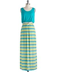 ModCloth To and Flowing Dress - Lyst