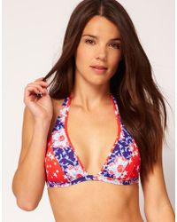 Paolita For Asos Stars and Floral Halter Bikini Top - Lyst