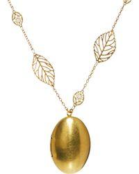 Sam Ubhi - Locket Leaf Chain Necklace - Lyst