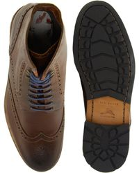 Ted Baker Poallu Leather Brogue Boots - Brown