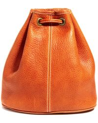 American Apparel Leather Backpack - Brown