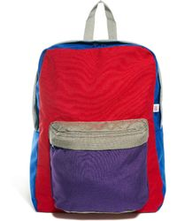 American Apparel Colourblock Nylon Backpack - Red