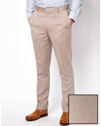 Asos Slim Fit Oxford Smart Trousers - Lyst