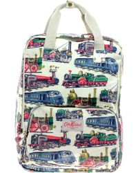 Cath Kidston Trains Backpack - Natural