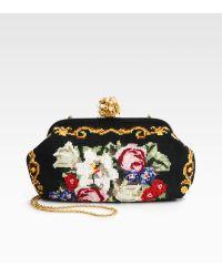 Dolce & Gabbana Miss Dea Crossstitch Clutch - Lyst