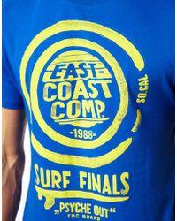 Esprit T-shirt with Surf Print - Blue