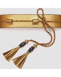 Gucci Wide Adjustable Tassel Belt - Lyst