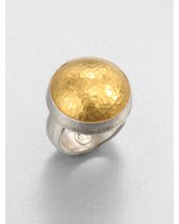 Gurhan Amulet 24K Yellow Gold & Sterling Silver Dome Ring - Lyst