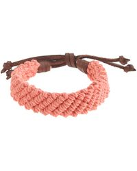J.Crew - Braided Ropeandleather Bracelet - Lyst