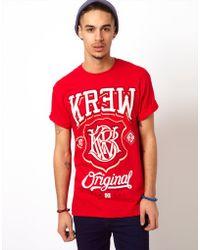 KR3W T-shirt Champ Logo - Red