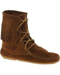 Minnetonka Tramper Brown Hi Ankle Boots