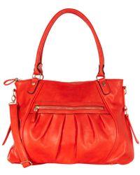 Oasis Pleated Tote Bag - Orange