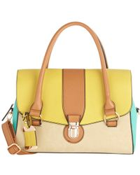 Oasis Colour Block Barrel Bag - Multicolour