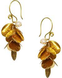 Sam Ubhi Multi Coin Charm Earrings - Metallic