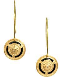 Sam Ubhi Vintage Button Drop Earrings - Metallic