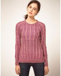 Textile Elizabeth And James Textile Elizabeth and James Jumper Boat Neck Bacle Multi Yarn - Lyst