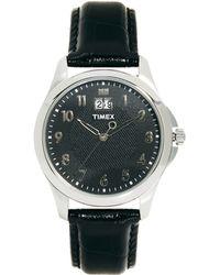 Timex - Leather Strap Watch T2n247 - Lyst