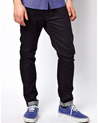 Wesc Jeans Alessandro Skinny Fit Raw Clean - Blue