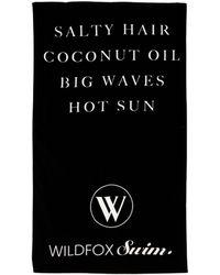 Wildfox Salty Hair Beach Towel - Lyst