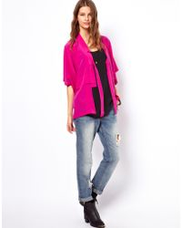 Winter Kate Silk Kiri Kimono Jacket - Multicolour