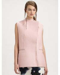 3.1 Phillip Lim Sleeveless Leather Jacket - Lyst