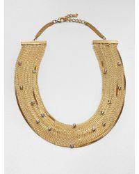ABS By Allen Schwartz - Glass Stone Multichain Necklace - Lyst