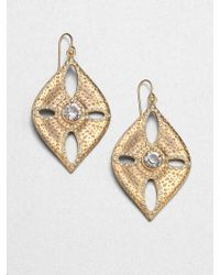 ABS By Allen Schwartz - Sand Dollar Drop Earrings - Lyst