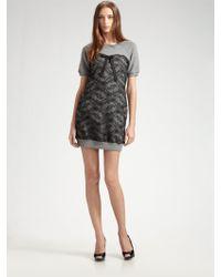 D&G Lacetopped Sweatshirt Dress - Lyst