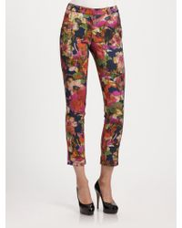 Erdem Cropped Floral Trousers - Lyst