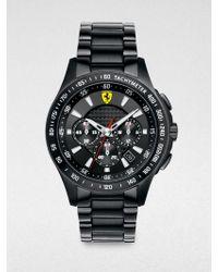 Scuderia Ferrari - Scuderia Stainless Steel Chronograph Watch - Lyst
