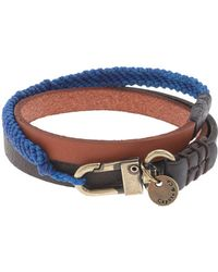 J.Crew - Caputo Co Triple Wrap Leather Bracelet - Lyst