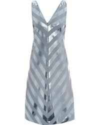 Jonathan Saunders Nicola Foil Stripe Bias Dress - Lyst