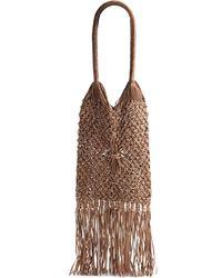 Massimo Palomba - Bonnie Knit Leather Fringe Bagcork - Lyst