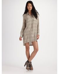 T By Alexander Wang Striped Shirt Dress - Lyst
