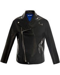 Thomas Tait Leather Biker Jacket - Black