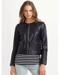 Tory Burch Beckett Leather Jacket - Black