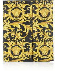 Versace Printed Pvc and Leather Ipad Case - Lyst