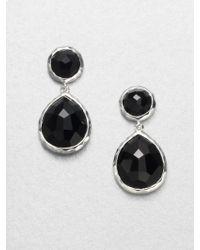 Ippolita Rock Candy Black Onyx & Sterling Silver Snowman Drop Earrings - Lyst